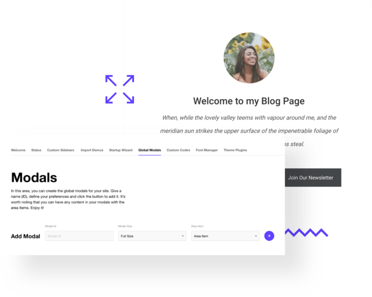 Impeka Custom Modals - Premium WordPress Multipurpose theme by Greatives